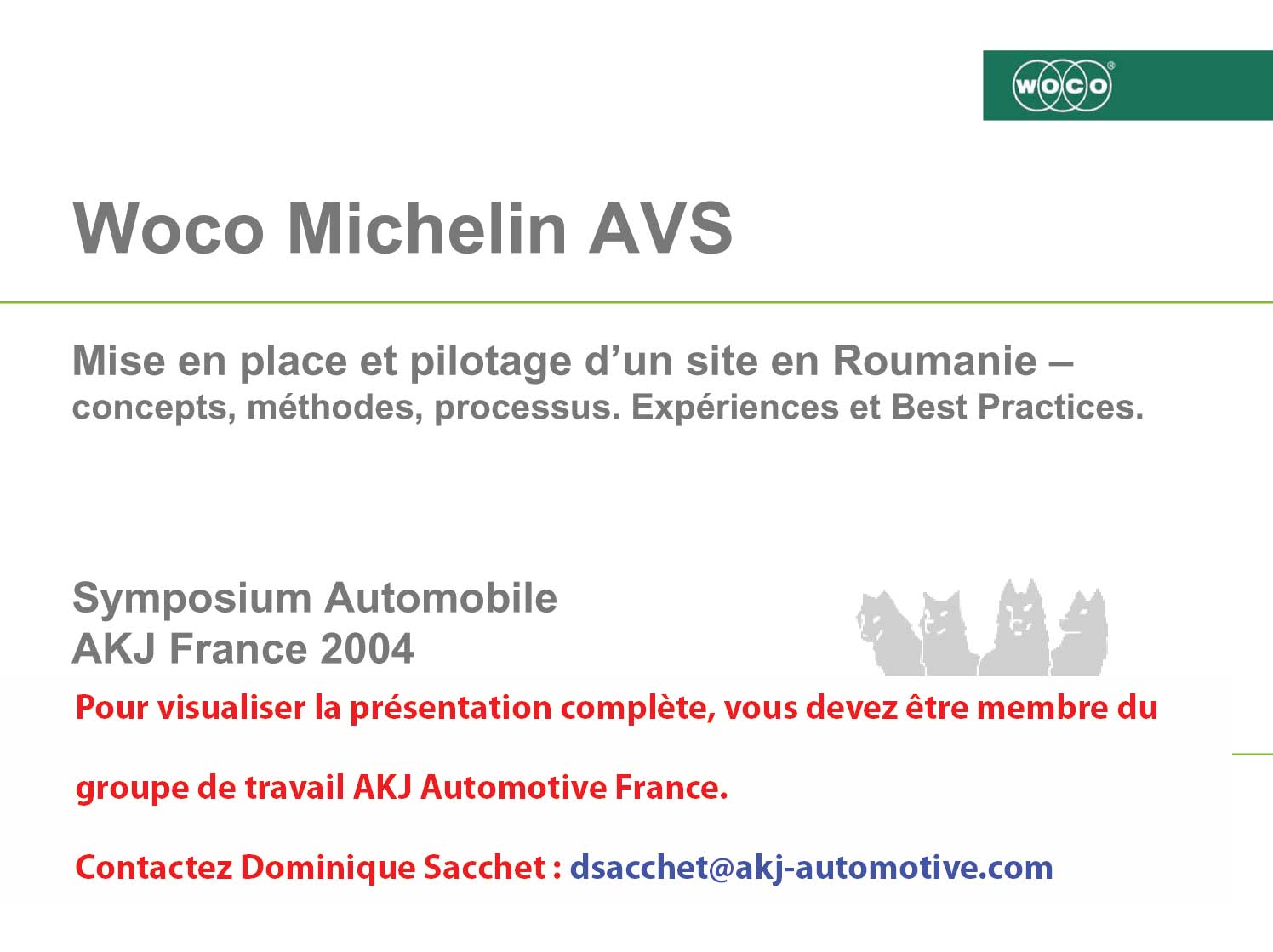 groupe de travail akj automotive france